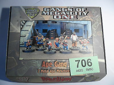Judge Dredd Miniature Game Ape Gang Gorilla Mongoose 2000 AD Lot 706
