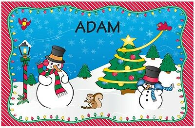 Boys Christmas Placemat With Name Dinner Mat Xmas Place Mat 60 Names Available