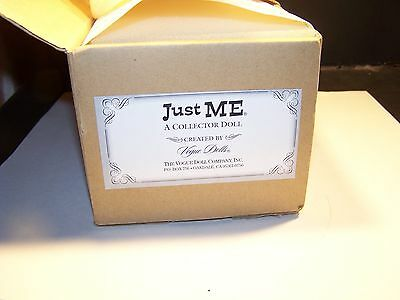 "Vogue Dolls Empty Box For Just Me Yellow-10""...no Doll, Only A Hat- #jm1002"