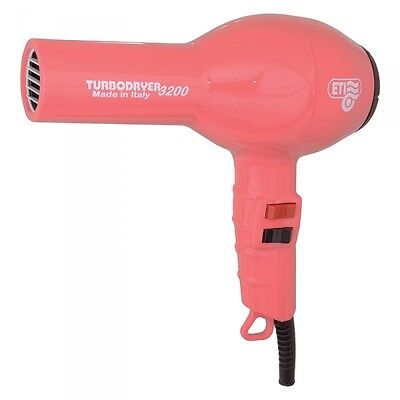 ETI Turbo Hair Dryer 3200. RASPBERRY Professional Quality Powerful 1900w Dryer