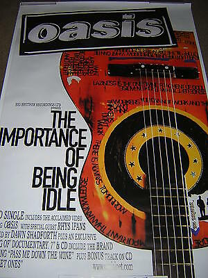 Original Oasis Large Promotional Poster - The Importance Of Being Idle