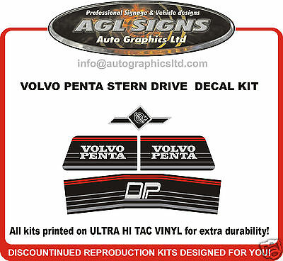 VOLVO PENTA DP STERN DRIVE Outdrive Decal Kit  reproductions DPE