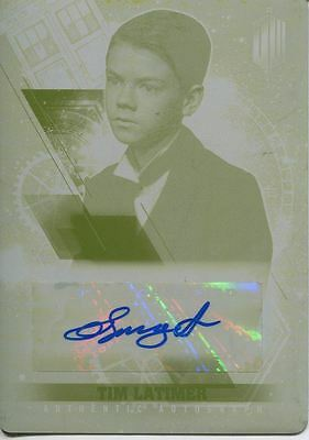 Doctor Who Timeless Printing Plate Autograph Card Thomas Brodie Sangster