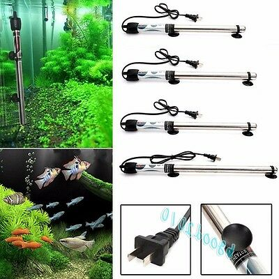 100/200/300/500W Submersible Stainless Steel Water Heater Rod Aquarium Fish Tank