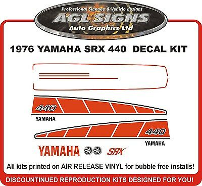 1976 YAMAHA SRX 440 SNOWMOBILE DECAL KIT 433  reproduction  also 340