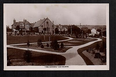 Old Colwyn - The Gardens - real photographic postcard