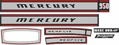 1967 Mercury Marine 950 Decals, Merc Outboard 95
