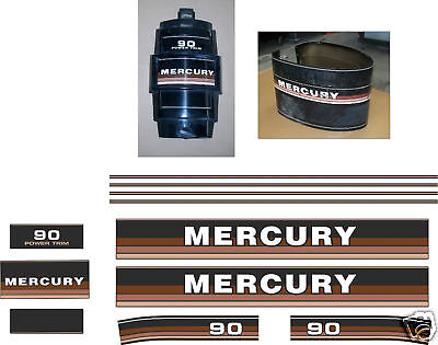 Mercury 90 Decals, Merc Outboard 1984-85 Reproductions