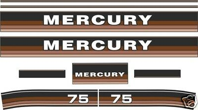 MERCURY 75 hp DECALS 1984 1985 , reproductions outboard