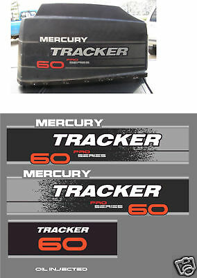 Mercury Tracker 60 Decals, Merc Outboard  Reproductions