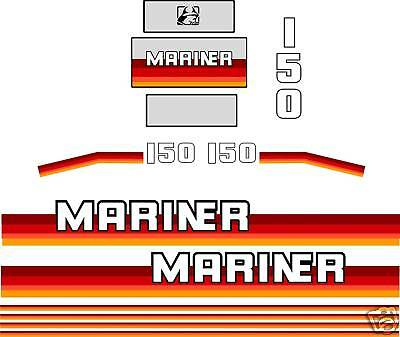 MARINER 150 hp DECALS 1990 's , stickers reproductions 175 200