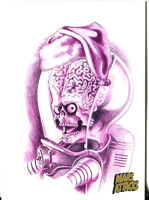 Mars Attacks Invasion Gold Stamped Parallel Base Card #68