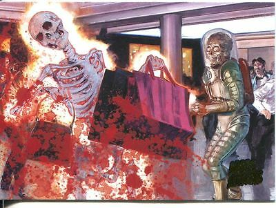 Mars Attacks Invasion Parallel Extra Gore Base Card #34
