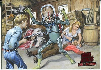 Mars Attacks Invasion Early Missions Chase Card #5