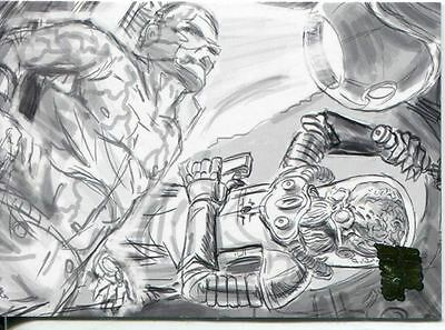 Mars Attacks Invasion Pencil Concept Art Parallel Base Card #54