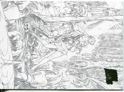 Mars Attacks Invasion Pencil Concept Art Parallel Base Card #31