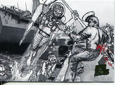 Mars Attacks Invasion Pencil Concept Art Parallel Base Card #8