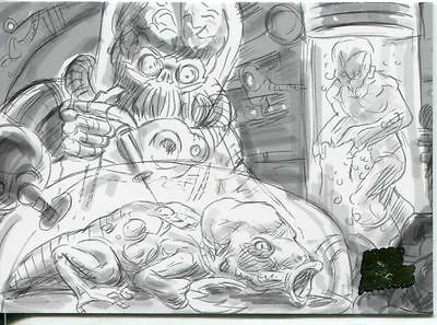 Mars Attacks Invasion Pencil Concept Art Parallel Base Card #53