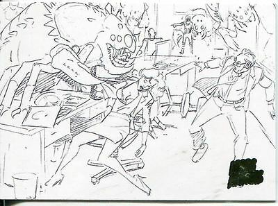 Mars Attacks Invasion Pencil Concept Art Parallel Base Card #29