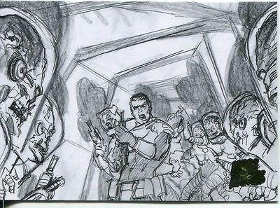 Mars Attacks Invasion Pencil Concept Art Parallel Base Card #25