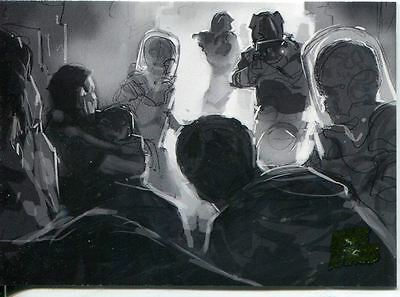 Mars Attacks Invasion Pencil Concept Art Parallel Base Card #40