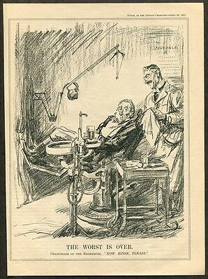 1933 Vintage Political Cartoon of a Dentist / Dental Print