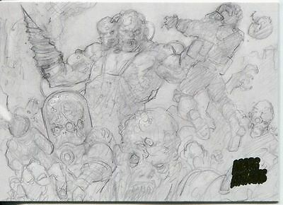 Mars Attacks Invasion Pencil Concept Art Parallel Base Card #47