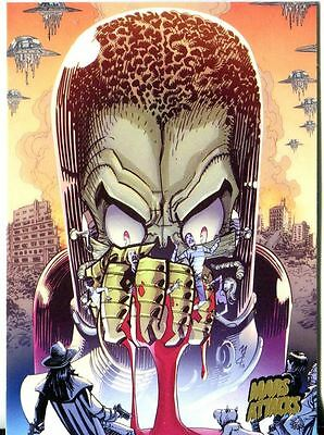 Mars Attacks Invasion Gold Stamped Parallel Base Card #67