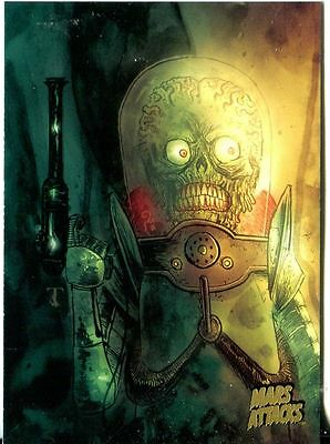 Mars Attacks Invasion Gold Stamped Parallel Base Card #92