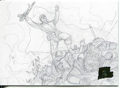 Mars Attacks Invasion Pencil Concept Art Parallel Base Card #45