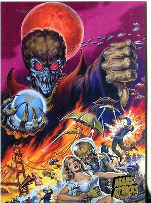 Mars Attacks Invasion Gold Stamped Parallel Base Card #87