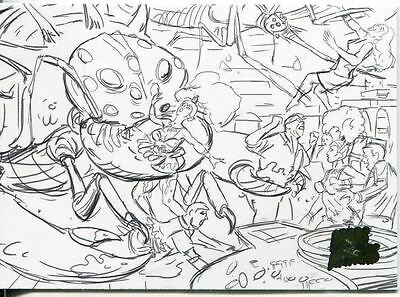 Mars Attacks Invasion Pencil Concept Art Parallel Base Card #4