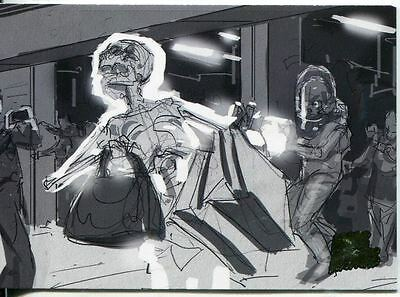Mars Attacks Invasion Pencil Concept Art Parallel Base Card #34