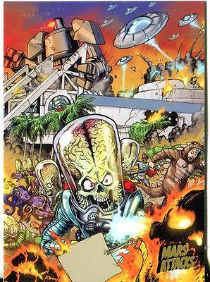 Mars Attacks Invasion Gold Stamped Parallel Base Card #74