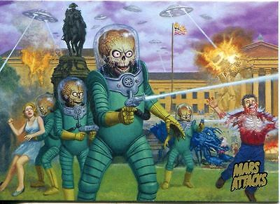 Mars Attacks Invasion Complete 95 Card Gold Parallel Base Set