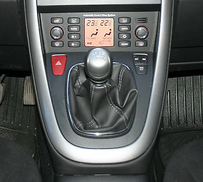 Genuine Leather Gear Shift Boot Gaiter Cover Sleeve fit FIAT Croma 2 2005 - 2010