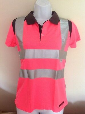 Rockfish Riders Short Sleeve High-Vis Polo Pink