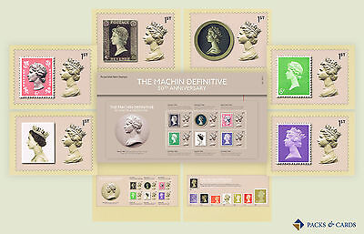 Gift Set of 2017 The Machin Definitive 50 Years - Presentation Pack & PHQ Cards