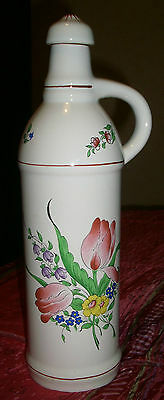 Carafe /  Bouteille  Signee  Luneville Kg France Reverbere Tulipes
