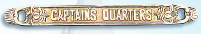 """BP-715A CAPTAIN Brass Plaque 12"""" boat sign Nautical Gift NEW"""