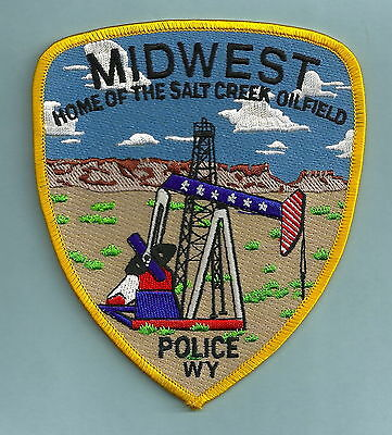 Midwest Wyoming Police Patch Oil Derrick!