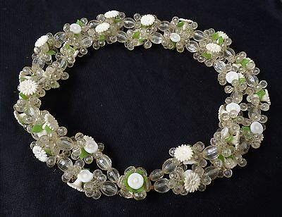 Vintage Necklace Layered Lucite Flower Beads 1950's West Germany