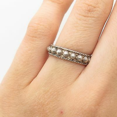 Vtg MMA 925 Sterling Silver Band Ring Size 6