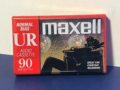 Vintage Maxell Blank Cassette Tape Ur Audio 90 Minutes Normal Bias Type I Iec