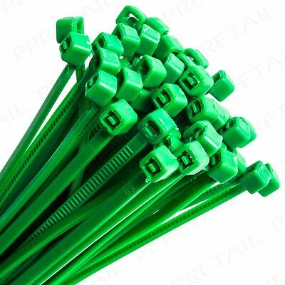 STRONG NYLON GARDEN CABLE TIES SMALL-LARGE Green Cane/Plant Shoot Support Zip