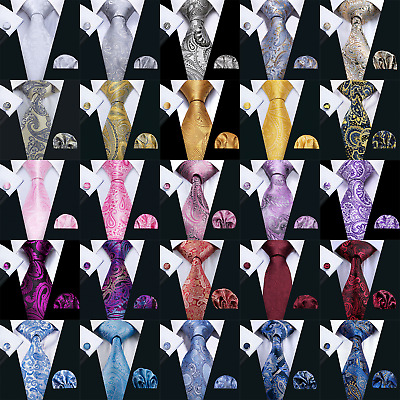 Classic Mens Necktie Hi Tie Silk Jacquard Woven Set Wedding Business Party 2017