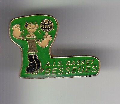 Rare Pins Pin's .. Sport Basket Ball Bd Popeye Club Team Ais Besseges 30 ~C7