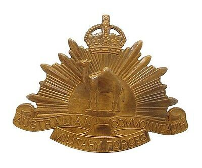Ww1 The Australian Commonwealth Military Forces Camel Badge Slidder To The Rear