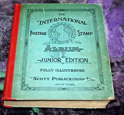 THE INTERNATIONAL POSTAGE STAMP ALBUM JUNIOR EDITION 1939 300+ Stamps Inside