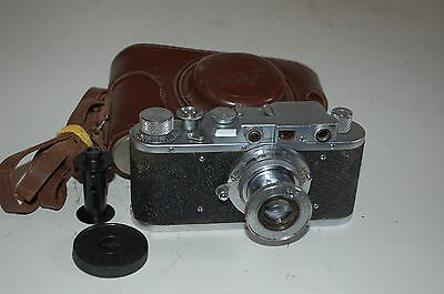 Fed 1 (Type G) Vintage 1954 Soviet Rangefinder Camera + Case. Serviced. (349618)